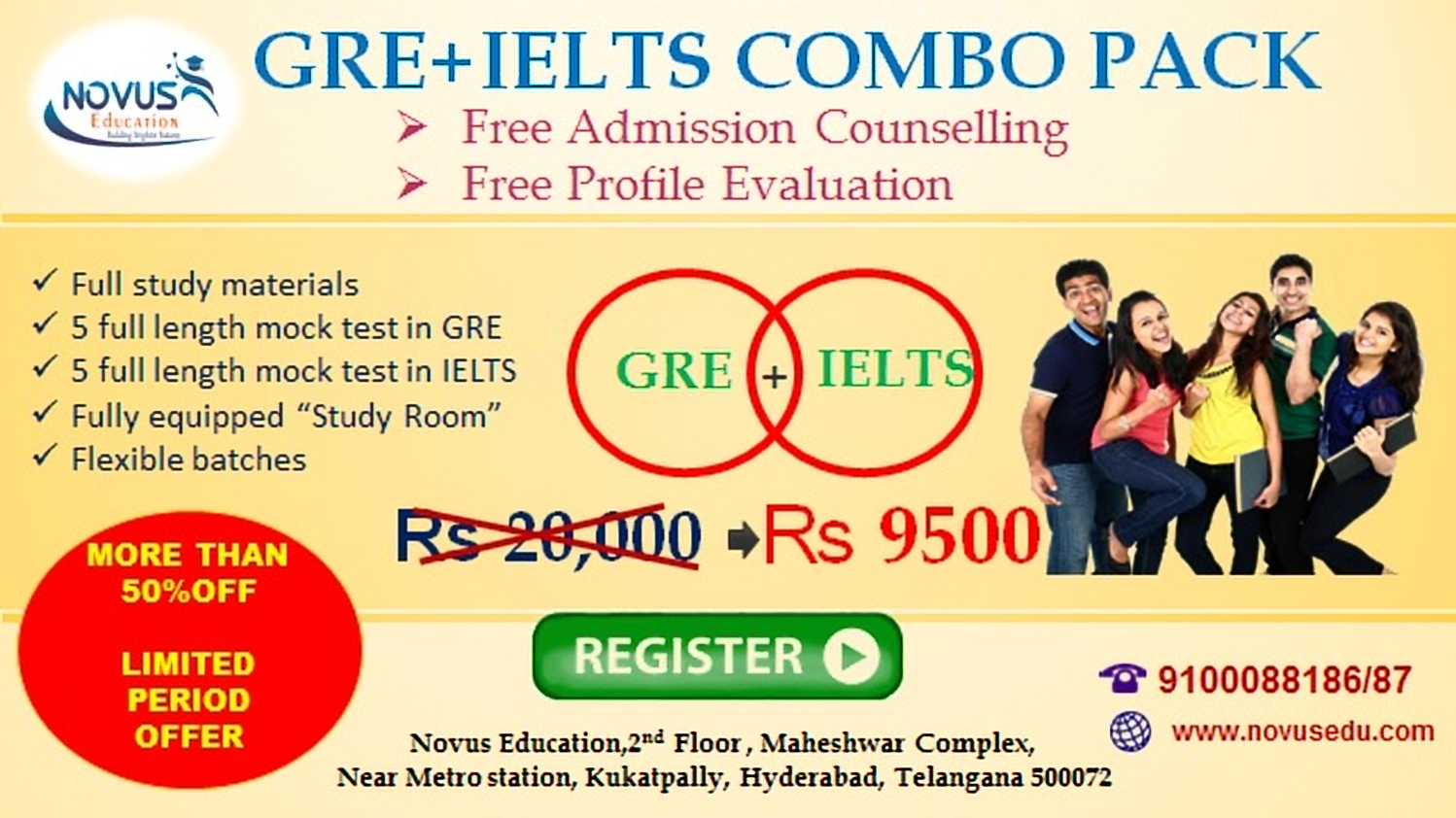 GRE AND IELTS COMBO PACK