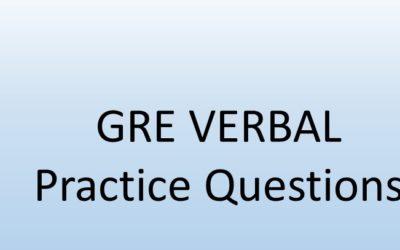 GRE Verbal – Practice Questions 11