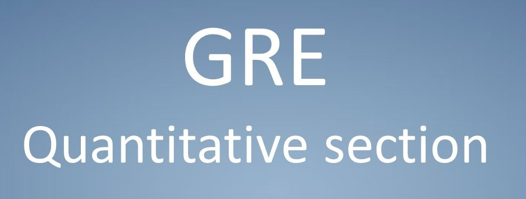 GRE Quantitative Reasoning section