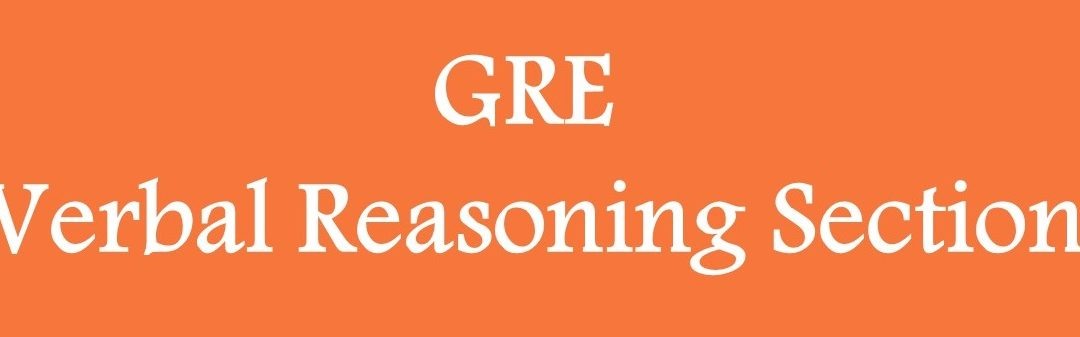 GRE Verbal Reasoning and Sample Questions