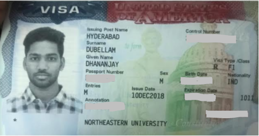 Dhananjay student visa Novus Education