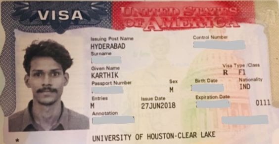Karthik student visa Novus Education