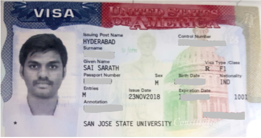 Sarath student visa Novus Education