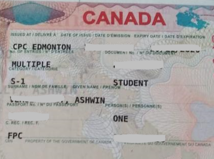 Ashwin student visa Novus Education