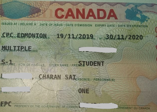 Charan Sai student visa Novus Education