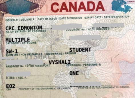 Vishali student visa Novus Education